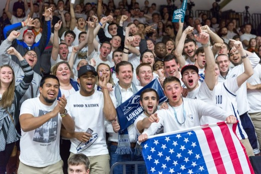 Longwood President Reveley Joins in with the Student Section!